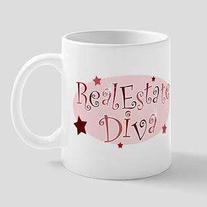 """Real Estate Diva"" [red] Mug"